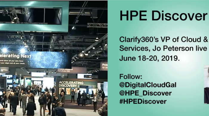 Jo Peterson live tweets at HPE Discover